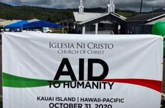 Screenshot from video of  Iglesia Ni Cristo Aid to Humanity in the Hawaiian islands held on Oct. 31, 2020.