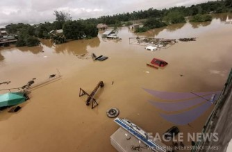 Severe flooding in Cagayan after typhoon Ulysses onslaught.  (Eagle News Service)
