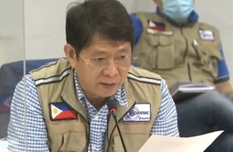 Department of Interior and Local Government Secretary Eduardo Año during a briefing on the effects of Super Typhoon Rolly on Monday, Nov. 2, 2020.  (Screengrab photo during televised briefing)
