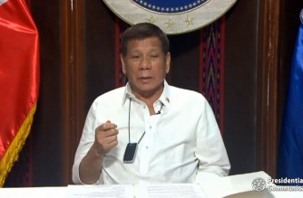 President Rodrigo Duterte tells Filipinos that government is doing its best to bring immediate relief and assistance to affected families and residents  in Luzon who have ben victimized by Typhoon Ulysses. (Photo grabbed from PCOO/RTVM video)/Courtesy PTV/RTVM)