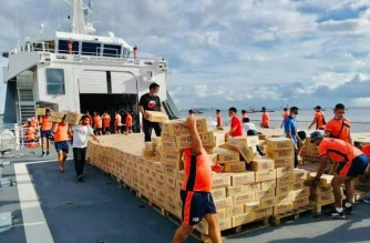 """BRP Gabriela Silang to transport relief goods to """"Rolly""""-hit Catanduanes"""