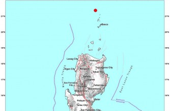 4.8-magnitude earthquake strikes off Batanes