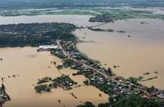 Aerial view of flooded areas in Isabela province.  (Eagle News Service)