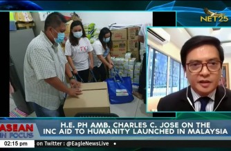 "PHL Ambassador thanks Iglesia Ni Cristo for ""Aid to Humanity"" for OFWs in Malaysia"