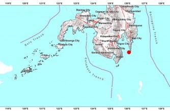 3.9-magnitude quake hits Davao Oriental early Monday