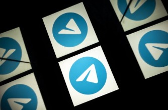 This picture taken on October 5, 2020 shows the logo of mobile messaging and call service telegram on a tablet screen in Toulouse, southwestern France. (Photo by Lionel BONAVENTURE / AFP)
