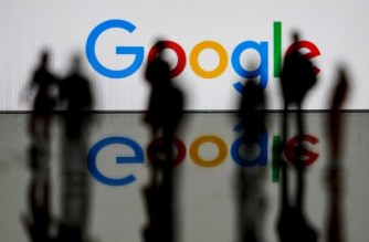 (FILES) This file photo taken on February 14, 2020 shows the US multinational technology and Internet-related services company Google logo in Brussels. - A massive outage knocked Google services including Gmail and video sharing platform YouTube offline across much of the globe. (Photo by Kenzo TRIBOUILLARD / AFP)