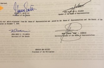 Photo courtesy Senate President Vicente Sotto III