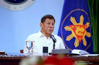 President Rodrigo Roa Duterte talks to the people after holding a meeting with the Inter-Agency Task Force on the Emerging Infectious Diseases (IATF-EID) core members at the Malacañang Golf (Malago) Clubhouse in Malacañang Park, Manila on December 16, 2020. KARL NORMAN ALONZO/ PRESIDENTIAL PHOTO