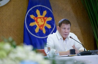 President Rodrigo Roa Duterte talks to the people after holding a meeting with the Inter-Agency Task Force on the Emerging Infectious Diseases (IATF-EID) core members at the Malacañan Palace on December 28, 2020. KING RODRIGUEZ/ PRESIDENTIAL PHOTO