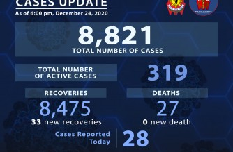 PNP reports 33 more COVID-19 recoveries