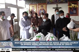Iglesia Ni Cristo extends help to St. Francis of Assisi Mission Church thru Lingap sa Mamamayan