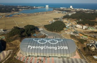 This picture taken on January 24, 2019 shows a general view of the Gangneung Oval, where the speed skating was held during the Pyeongchang 2018 Winter Olympic Games. - Just one year after the world's best skiers and skaters gathered in South Korea to compete for Olympic gold, many of the venues stand empty, with arguments mounting over their future and upkeep costs. (Photo by Yelim LEE / AFP)