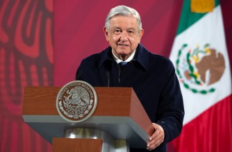 """(FILES) In this file handout picture taken on December 15, 2020 and released by Mexico's Presidency press office, Mexican President Andres Manuel Lopez Obrador speaks during a press conference in Mexico City. - In his first call to a foreign leader as US president, Joe Biden spoke with Canadian counterpart Justin Trudeau January 22, 2021 on a number of topics and made plans to continue the conversation next month, Ottawa and Washington said in separate statements. (Photo by - / Mexican Presidency / AFP) / RESTRICTED TO EDITORIAL USE - MANDATORY CREDIT """"AFP PHOTO / MEXICAN PRESIDENCY """" - NO MARKETING - NO ADVERTISING CAMPAIGNS - DISTRIBUTED AS A SERVICE TO CLIENTS"""