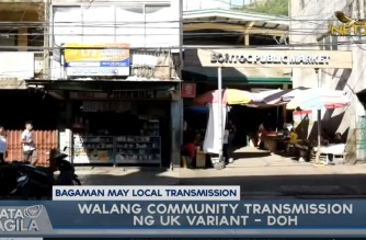 DOH says there is no community transmission yet of UK variant in PHL