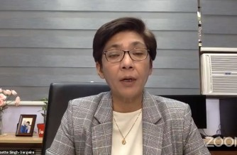 Health Undersecretary Maria Rosario Vergeire explains the contact tracing efforts started by the Department of Health on the Philippine Air Lines flight that was identified by Hong Kong authorities as having a passenger who had tested positive for the new COVID-19 virus variant first detected in the United Kingdom.  (Screenshot of DOH video/Courtesy DOH)