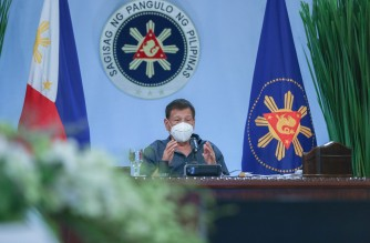 "President Rodrigo Duterte addresses the nation in his ""Talk to the People"" address on Monday night, Jan. 18, 2021.  (Eagle News Service)"