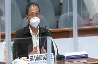 Philippine vaccine czar Secretary Carlito Galvez Jr., explains that status of negotiations for COVID-19 vaccines in a hearing conducted by the Senate on Monday, Jan. 11, 2021.  (Eagle News Service)