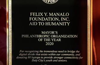 The Philanthropic Organization of the Year, a first-ever recognition of its kind in Daly City, Calif., was awarded to the Felix Y. Manalo Foundation, Inc. on December 14, 2020.  (Photo Courtesy Iglesia Ni Cristo Public Information Office)