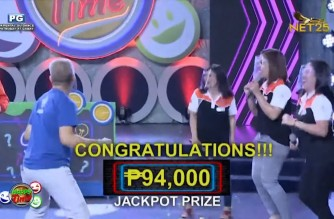 "Teachers win P94,000 jackpot prize in ""Sana All"" round of NET25 Happy Time's ""Bawal Peyk News"""