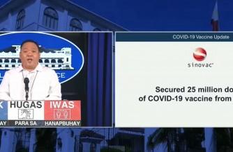 Screenshot of Malacanang press briefing on Monday, Jan. 11, 2021.  (Courtesy PCOO/RTVM)