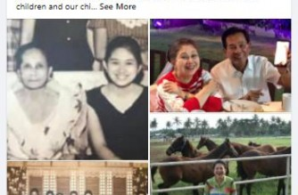 MMDA Chair Benhur Abalos announced the death of his mother in a Facebook post. The Abalos family said she was found positive for COVID-19 the night before she passed away on Monday, Jan. 25./Benhur Abalos FB account/