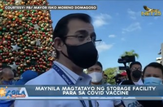 Manila city gov't starts building its own storage facility for COVID-19 vaccines
