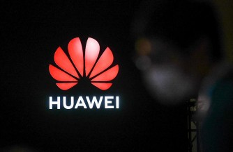 A Huawei logo is seen during the Huawei Connect Conference in Shanghai on September 23, 2020. (Photo by STR / AFP) / China OUT