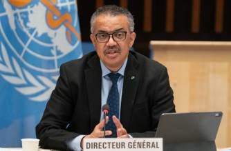 "This handout picture made available by the World Health Organization (WHO) shows WHO Director-General Tedros Adhanom Ghebreyesus delivering remarks following the speech of US President's chief medical adviser during a World Health Organization (WHO) executive board meeting on January 21, 2021 in Geneva. - In a dramatic about-turn, the new US administration on January 21, 2021 thanked the World Health Organization for leading the global pandemic response and vowed to remain a member. ""The United States also intends to fulfil its financial obligations to the organisation,"" top US scientist Anthony Fauci, who has been named President Joe Biden's chief medical adviser, told a meeting of the WHO's executive board. (Photo by Christopher Black / World Health Organization / AFP) / RESTRICTED TO EDITORIAL USE - MANDATORY CREDIT ""AFP PHOTO/ CHRIS BLACK/ WORLD HEALTH ORGANIZATION"" - NO MARKETING - NO ADVERTISING CAMPAIGNS - DISTRIBUTED AS A SERVICE TO CLIENTS"