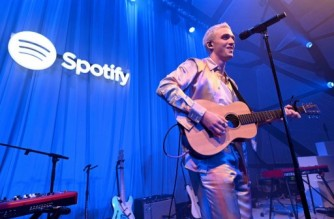 BROOKLYN, NEW YORK - MARCH 05: Lauv performs on stage for Spotify Presents Lauv Live in celebration of ~how i'm feeling~ album launch at National Sawdust on March 05, 2020 in Brooklyn.   Ilya S. Savenok/Getty Images for Spotify/AFP