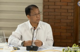 Philippine Vaccine Czar Secretary Carlito Galvez Jr., updates President Rodrigo Duterte on the efforts to acquire and secure the  COVID-19 vaccines on Feb. 1, 2021. (Eagle News Service)