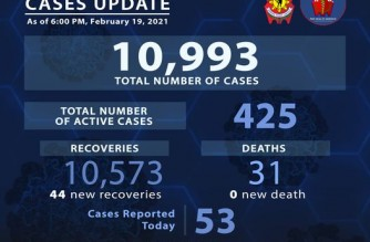 PNP reports 44 more COVID-19 recoveries