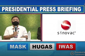 Presidential Spokesperson Harry Roque holds a press briefing on Thursday, Feb. 25, 2021 (Screenshot of RTVM/Palace press briefing)