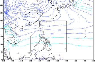 Easterlies affecting PHL today