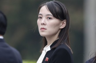 "(FILES) In this file photo taken on March 2, 2019 Kim Yo Jong, sister of North Korea's leader Kim Jong Un, attends wreath laying ceremony at Ho Chi Minh Mausoleum in Hanoi. - North Korean leader Kim Jong Un's influential sister slammed the US and South Korea on March 15, state media reported, as the new US secretaries of state and defence began a visit to Tokyo and Seoul. The US and South began joint military exercises last week and Pyongyang's official Rodong Sinmun newspaper carried a statement from Kim Yo Jong offering ""a word of advice to the new administration of the United States that is struggling to spread the smell of gunpowder on our land from across the ocean"". (Photo by JORGE SILVA / POOL / AFP)"