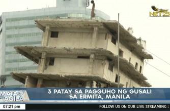 3 killed in building collapse in Ermita, Manila