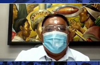 Presidential Spokesperson Harry Roque announces he tested positive for COVID-19 in a Palace press briefing on Monday, March 15, 2021 (Screenshot of PCOO video/Courtesy PCOO)