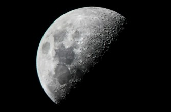(FILES) This file photo taken on June 10, 2019 shows the moon in the sky above Mandalay city in central Myanmar. Russia and China on March 9, 2021 signed a memorandum of understanding for the joint construction of a lunar space station, Russia's space agency Roscosmos said in a statement. Ye Aung THU / AFP
