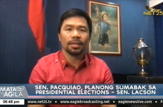 "Pacquiao says becoming President a matter of destiny, as Lacson bares ""PacMan's"" presidential plans"