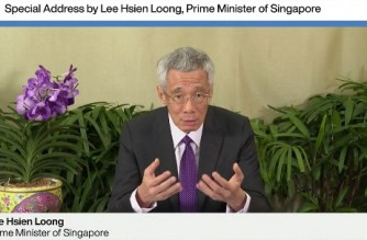 "This video grab taken on January 29, 2021, from the website of the World Economic Forum shows  Singapore's Prime Minister Lee Hsien Loong addressing an all-virtual World Economic Forum, which usually takes place in Davos, Switzerland. (Photo by Handout / World Economic Forum (WEF) / AFP) / RESTRICTED TO EDITORIAL USE - MANDATORY CREDIT ""AFP PHOTO / WORLD ECONOMIC FORUM"" - NO MARKETING - NO ADVERTISING CAMPAIGNS - DISTRIBUTED AS A SERVICE TO CLIENTS"