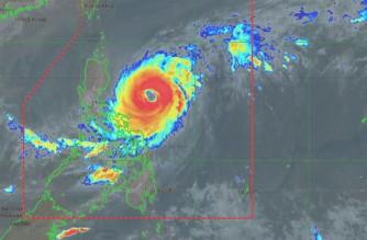 Satellite image of Typhoon Bising (Surigae) as of Monday, April 20, 2021 (Courtesy PAGASA-DOST)