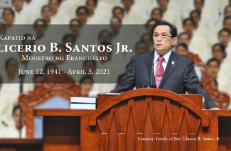 Iglesia Ni Cristo General Auditor Bro. Glicerio B. Santos Jr. who passed away on Saturday, April 3, 2021 due to pneumonia (Photo courtesy: Family of Bro. Family of Bro. Glicerio B. Santos, Jr.)