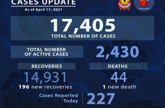 Sinas reminds cops with COVID-19 symptoms to immediately seek medical attention as PNP reports 227 more COVID-19 cases