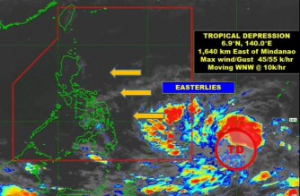 PAGASA: Tropical depression off Mindanao expected to enter PAR this weekend
