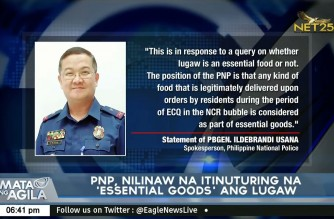 """Amid viral video on """"lugaw"""" delivery, PNP stresses all food items are essential goods"""