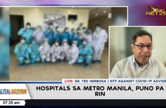 NTF adviser Herbosa backs DOH on MECQ extension; cites high critical care capacity in NCR Plus areas