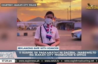 Rape with homicide complaint sa 11 suspects sa Dacera case, ibinasura ng Makati Prosecutor's Office