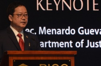 File photo.  Justice Secretary Menardo Guevarra (Courtesy DOJ)
