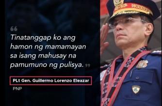 Photo courtesy Facebook post of PNP Chief Guillermo Eleazar
