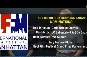 "EBC Films' ""Guerrero Dos"" receives nominations at Int'l Filmfest Manhattan New York"